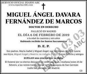 Miguel Ángel Davara Fernández de Marcos