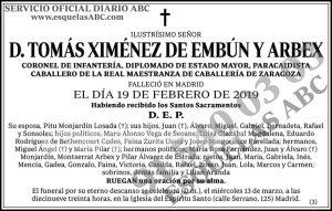 Tomás Ximénez de Embún y Arbex