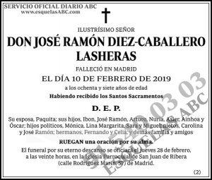 José Ramón Diez-Caballero Lasheras