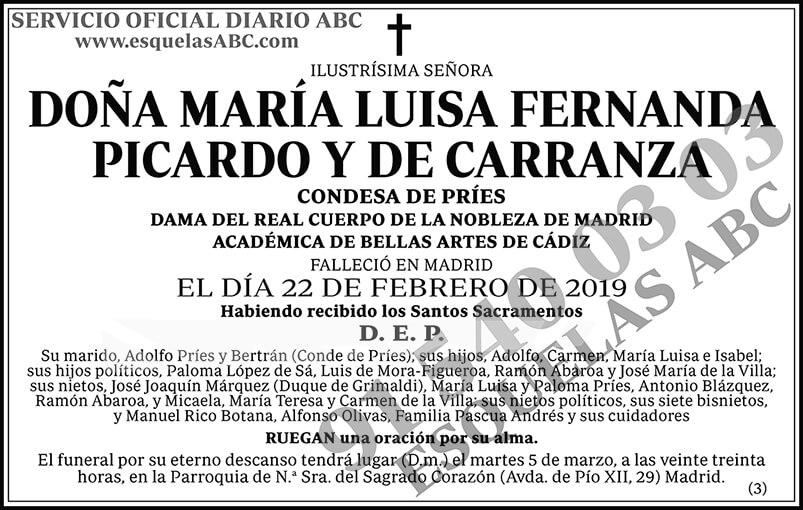 María Luisa Fernanda Picardo y de Carranza