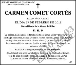 Carmen Comet Cortés