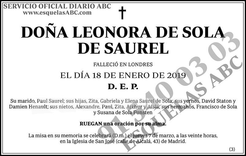 Leonora de Sola de Saurel