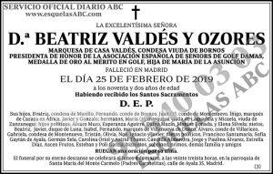 Beatriz Valdés y Ozores