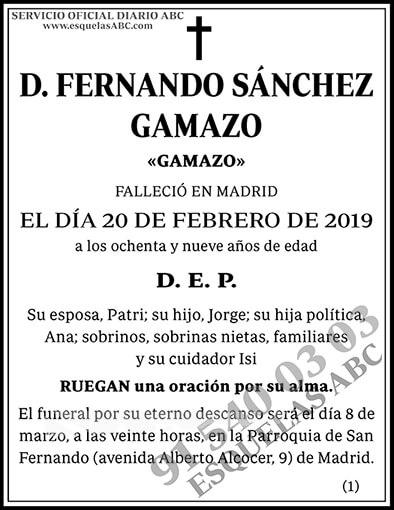Fernando Sánchez Gamazo