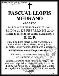 Pascual Llopis Medrano