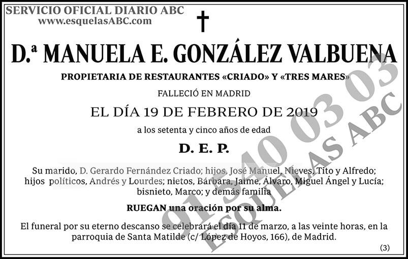 Manuela  E. González Valbuena