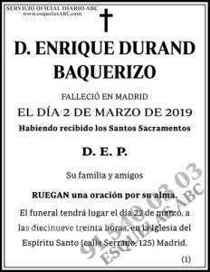 Enrique Durand Baquerizo