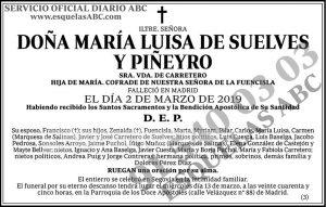 María Luisa de Suelves y Piñeyro