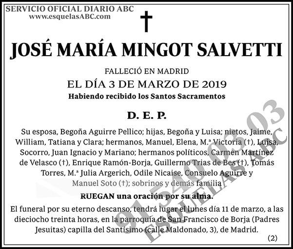 José María Mingot Salvetti