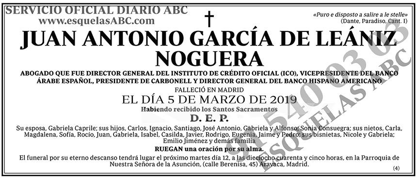 Juan Antonio García de Leániz Noguera