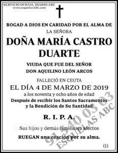 María Castro Duarte
