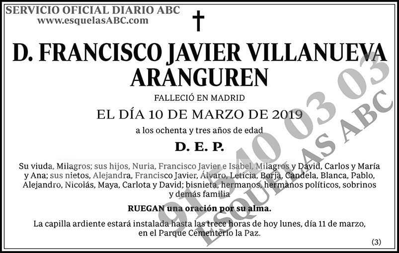Francisco Javier Villanueva Aranguren