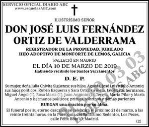 José Luis Fernández Ortiz de Valderrama