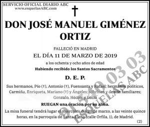 José Manuel Giménez Ortiz