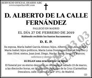 Alberto de la Calle Fernández