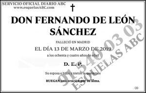 Fernando de León Sánchez