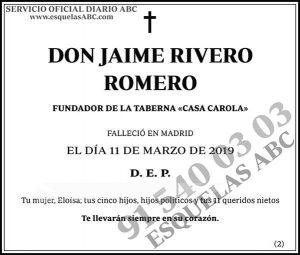 Jaime Rivero Romero
