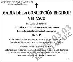 María de la Concepción Regidor Velasco