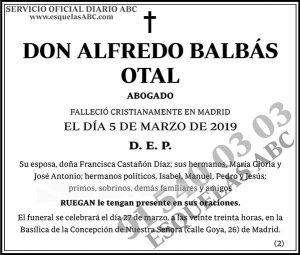 Alfredo Balbás Otal