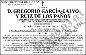 Gregorio García-Calvo y Ruiz de los Paños
