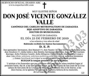 José Vicente González Valle