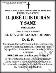 José Luis Durán y Sanz