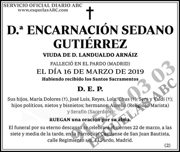 Encarnación Sedano Gutiérrez