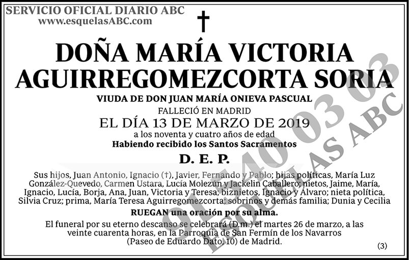 María Victoria Aguirregomezcorta Soria
