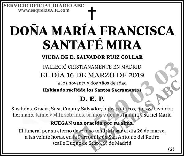 María Francisca Santafé Mira