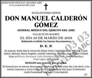 Manuel Calderón Gómez