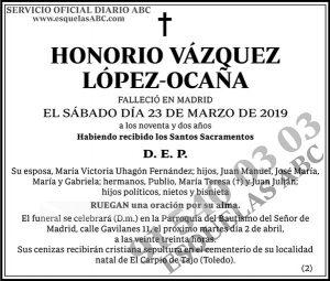 Honorio Vázquez López-Ocaña