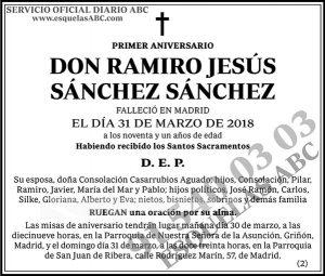 Ramiro Jesús Sánchez Sánchez