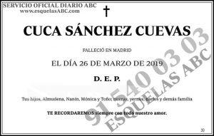 Cuca Sánchez Cuevas