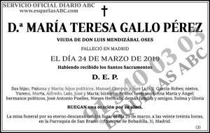 María Teresa Gallo Pérez