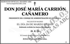 José María Carrión Cañamero