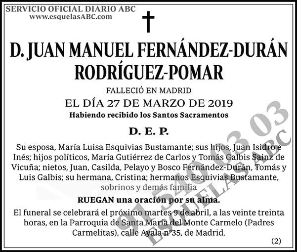 Juan Manuel Fernández-Durán Rodríguez-Pomar