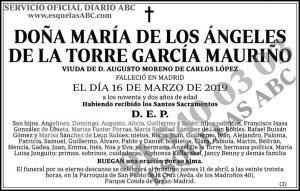 María de los Ángeles de la Torre García Mauriño