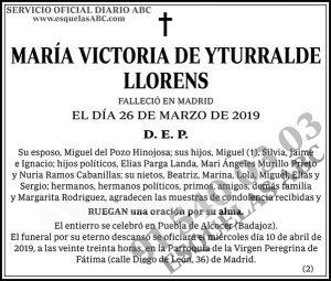 María Victoria de Yturralde Llorens