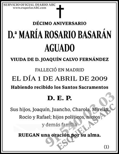 María Rosario Basarán Aguado