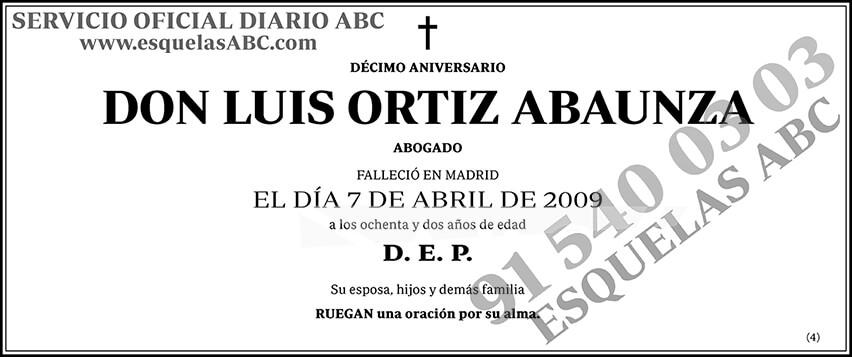 Luis Ortiz Abaunza