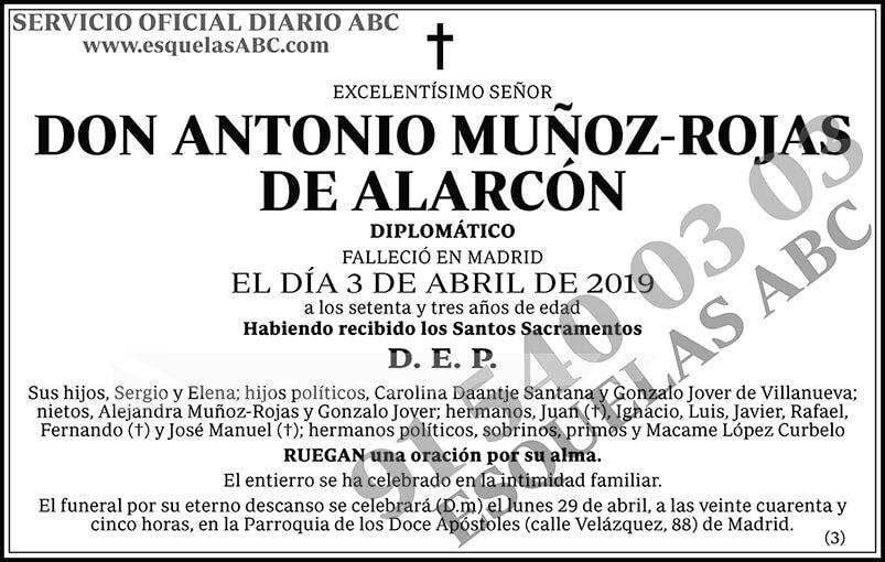 Antonio Muñoz-Rojas de Alarcón