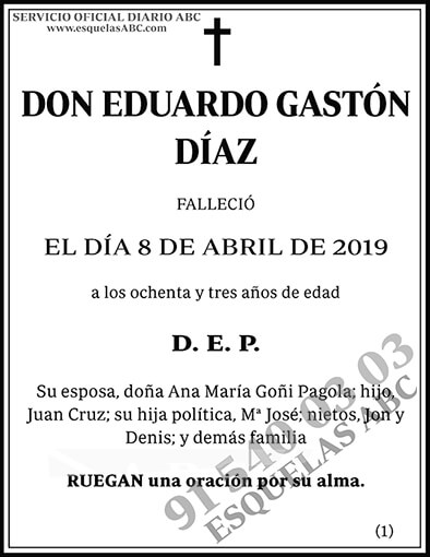 Eduardo Gastón Díaz