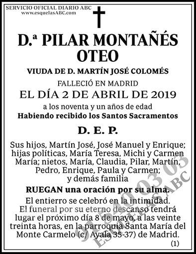 Pilar Montañés Oteo
