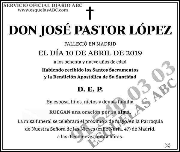 José Pastor  López