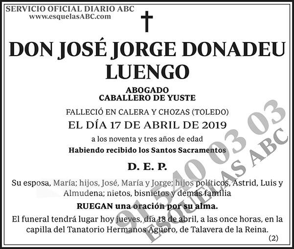 José Jorge Donadeu Luengo