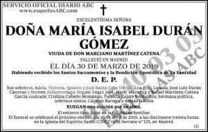 María Isabel Durán Gómez