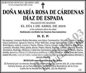 María Rosa de Cárdenas Díaz de Espada