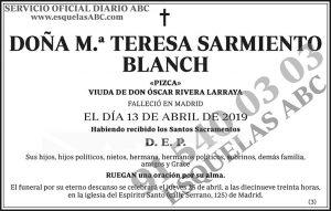 M.ª Teresa Sarmiento Blanch