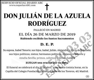 Julián de la Azuela Rodríguez