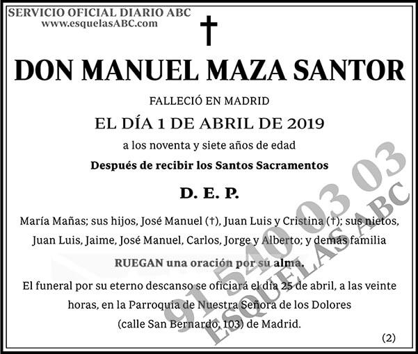 Manuel Maza Santor
